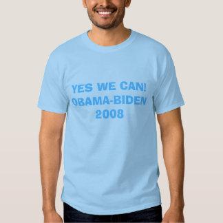 YES WE CAN!OBAMA-BIDEN 2008 T SHIRTS