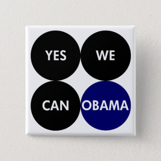 Yes We Can Obama Pin