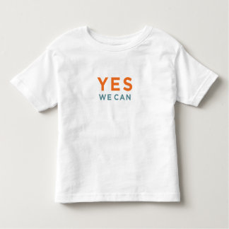 Yes We Can + Obama portrait (2-sided) Toddler T-shirt