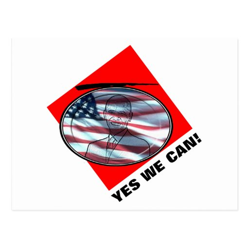 Yes We Can Post Card