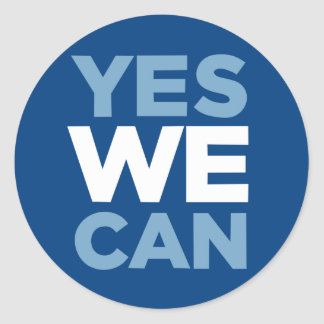 Yes We Can Sticker