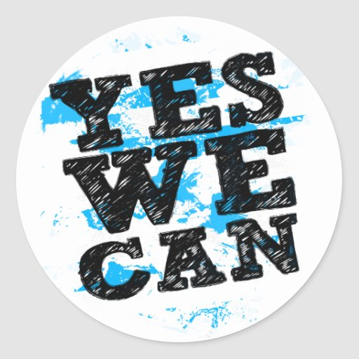 Yes We Can Stickers - Barack Obama