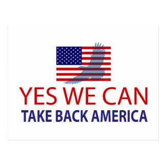 Yes We Can Take Back America Postcard