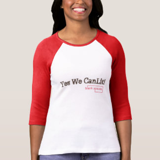 Yes We CanLit! Blank Spaces 3/4 Sleeve Raglan T-Shirt