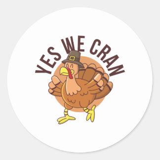 Yes We Cran Classic Round Sticker
