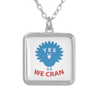 Yes We Cran Silver Plated Necklace