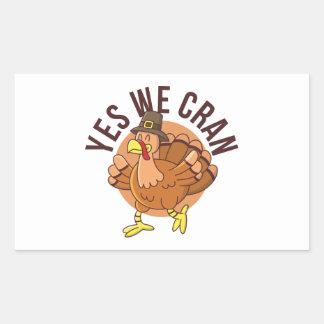 Yes We Cran Sticker