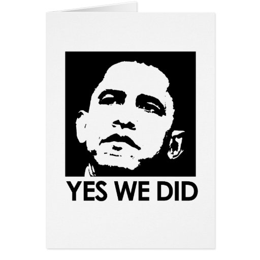 """Yes we did"" Cards"