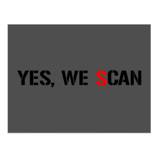 Yes, We Scan  NSA PRISM Post Cards