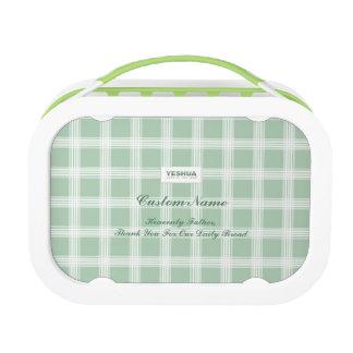 YESHUA Custom Name Green Lunch Box