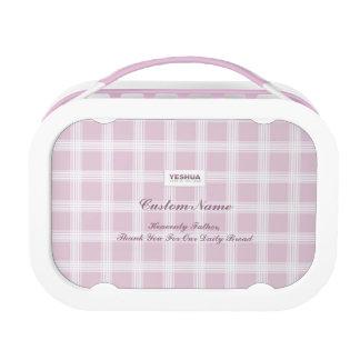 YESHUA Custom Name Pink Lunch Box