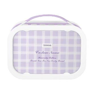 YESHUA Custom Name Purple Lunch Box