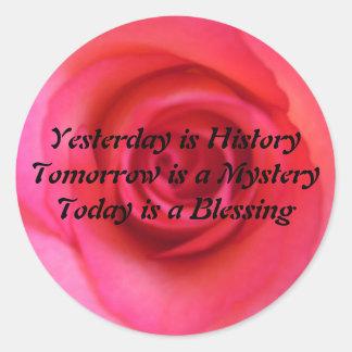 Yesterday is History Round Sticker