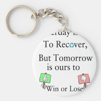 Yesterday is not ours to Recover, But Tomorrow is Basic Round Button Keychain