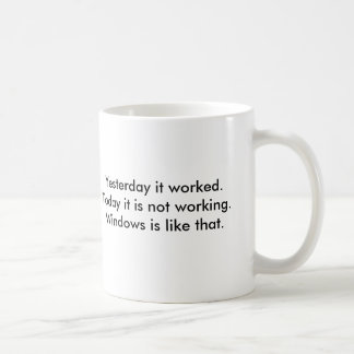 Yesterday it worked.Today it is not working.Win... Coffee Mug