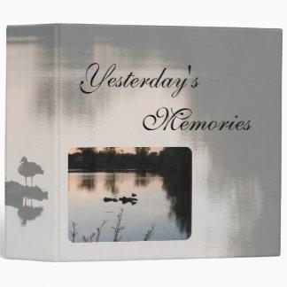Yesterdays Memories Scrapbook by Janz Vinyl Binder