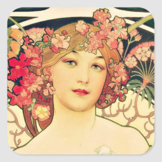 Yesteryear's Beauty Square Sticker
