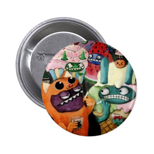 Yeti and Monsters Party! Pin