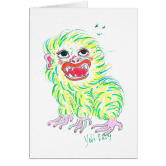 Yeti Baby - Monster Card