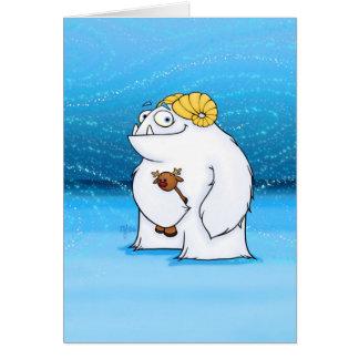Yeti (Christmas), card