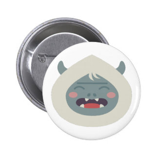Yeti Head 2 Inch Round Button