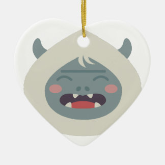 Yeti Head Ceramic Ornament