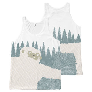 Yeti Hug All-Over-Print Tank Top