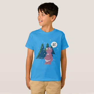 Yeti in a Cold Weather Kids' T-Shirt