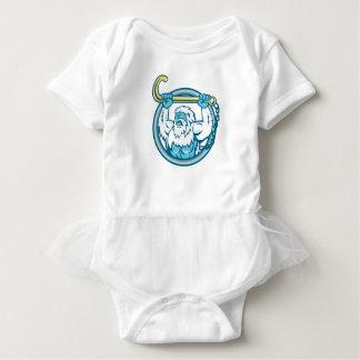Yeti Lifting J Hook Circle Retro Baby Bodysuit