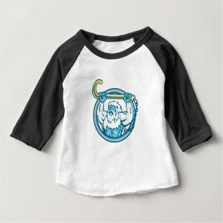 Yeti Lifting J Hook Circle Retro Baby T-Shirt