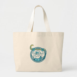 Yeti Lifting J Hook Circle Retro Large Tote Bag