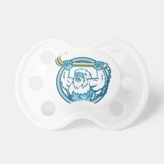 Yeti Lifting J Hook Circle Retro Pacifier