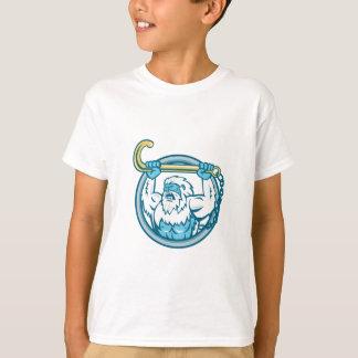 Yeti Lifting J Hook Circle Retro T-Shirt