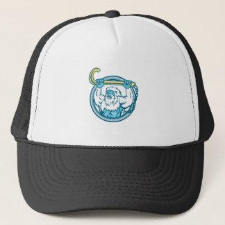 Yeti Lifting J Hook Circle Retro Trucker Hat