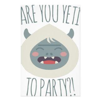 Yeti To Party Stationery Design