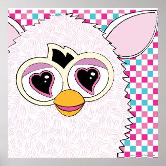 Yeti White Furby Poster