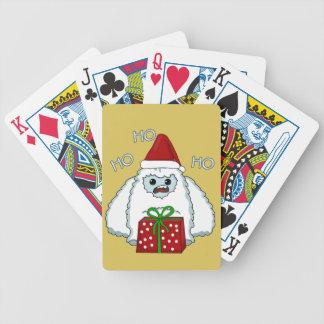 Yeti Xmas Bicycle Playing Cards