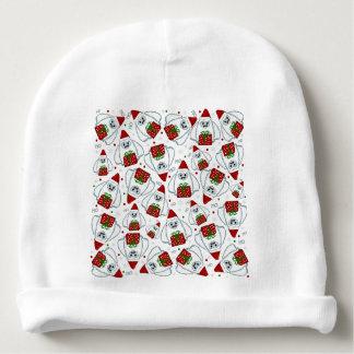 Yeti Xmas pattern Baby Beanie