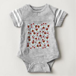 Yeti Xmas pattern Baby Bodysuit