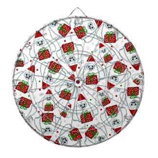 Yeti Xmas pattern Dartboard