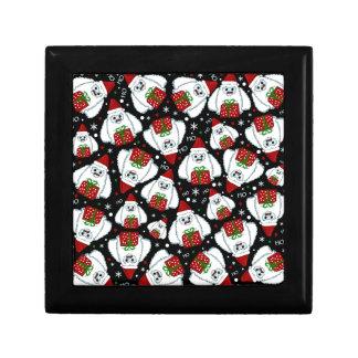 Yeti Xmas pattern Gift Box
