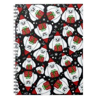 Yeti Xmas pattern Notebook