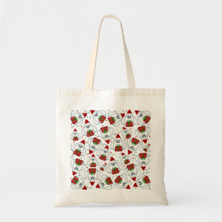 Yeti Xmas pattern Tote Bag