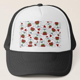 Yeti Xmas pattern Trucker Hat