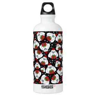 Yeti Xmas pattern Water Bottle