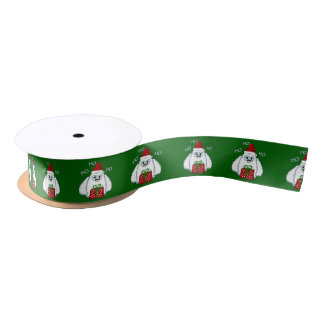 Yeti Xmas Satin Ribbon