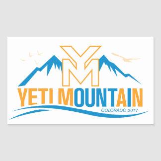 YetiMan Mountain Colorado 2017 Color Sticker