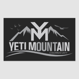 YetiMan Mountain Colorado 2017 Gray on Black Sticker