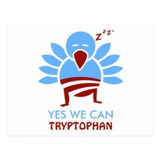 Yew We Can Tryptophan Postcard