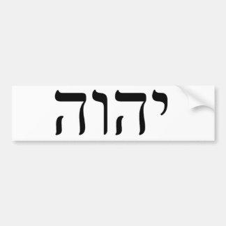 YHWH Black Tetragrammaton Bumper Sticker